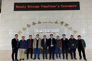 Vietnam customer visit our factory to inspect automatic bagging machines