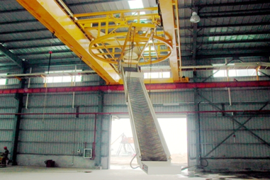 rotary bag stacker